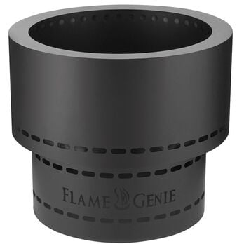 Flame Genie Inferno Wood Pellet Fire Pit with Tote, Black