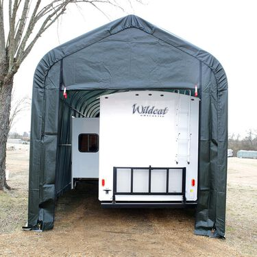 Peak Style Shelter 13 x 24 x 10 Green Cover