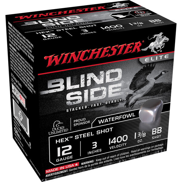 "Winchester Blind Side Magnum Ammo, 12-ga., 3"", 1-3/8, #2"