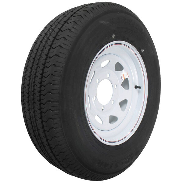 """Kenda Loadstar 15"""" ST225/75R-15 Radial Trailer Tire With White Wheel Assembly"""