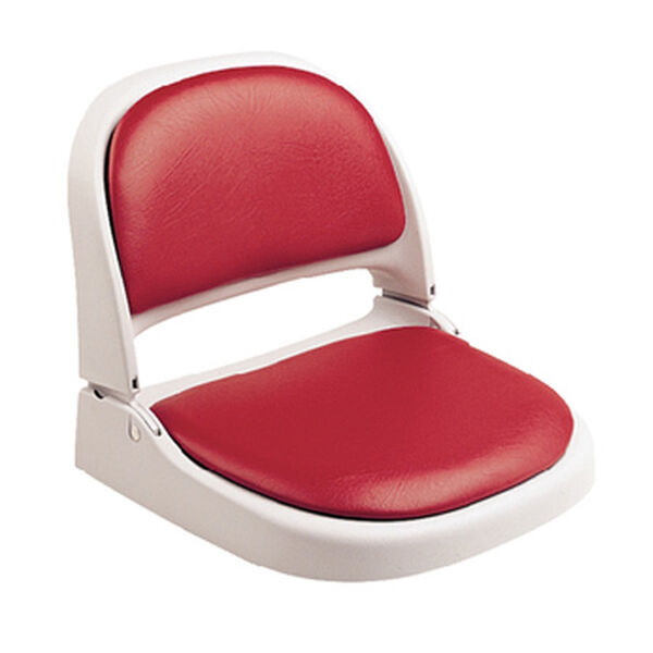 Attwood Proform Gray Fold-Down Boat Seat With Red Vinyl