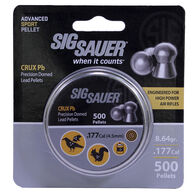 SIG Sauer Crux Lead Air Gun Pellets, .177-cal., 8.64-gr., 500-ct.