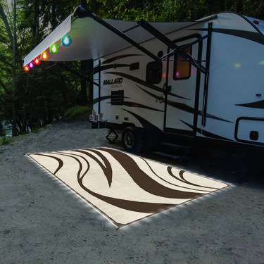 LED Illuminated Patio Mat with Wave Design, 9' x 12'
