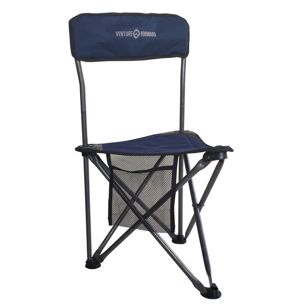Venture Forward Heavy Duty Tri Stool With Backrest