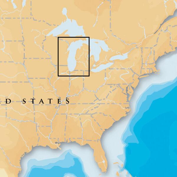 Navionics Platinum+ Map, Lake Michigan - SD Cartridge