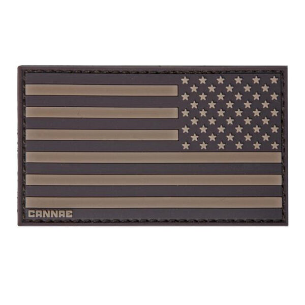 Cannae Pro Gear American Flag Right Arm Patch (Coyote)