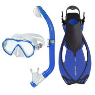 Head Pirate Mask/Snorkel/Fin Set