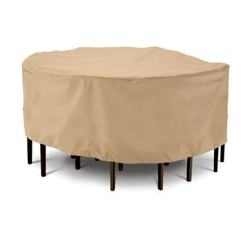 Terrazzo Collection Patio Furniture Covers-Large Round Table & Chair Cover