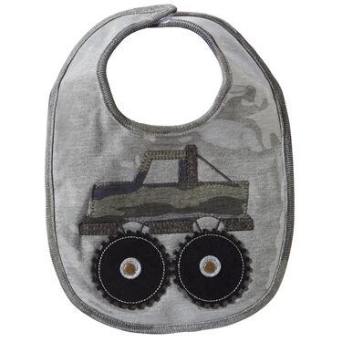 Mud Pie Infant Boys' Camo Truck Laminated Baby Bib