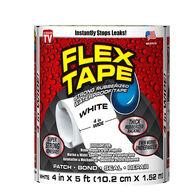 """Flex Tape, 4""""W x 5'L, White"""