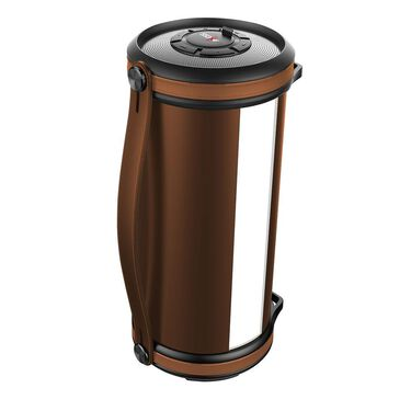Axess Bluetooth Media Speaker with LED & RGB Light, Brown