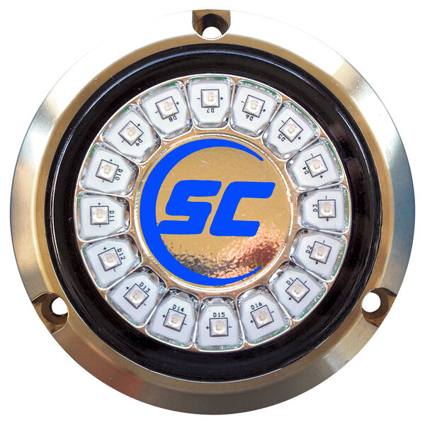 Shadow-Caster Single-Color Bronze Underwater Light – 16 LEDs, Ultra Blue