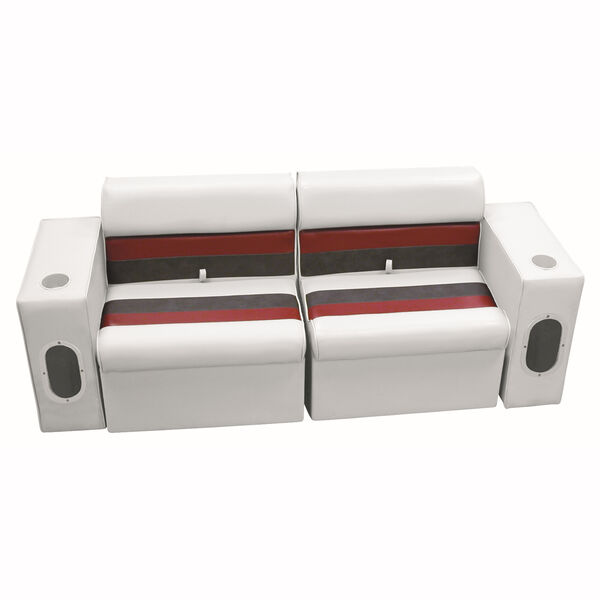 Deluxe Pontoon Furniture w/Classic Base - Front Group Package E, White/Red/Charc