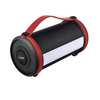 Axess Bluetooth Media Speaker with LED & RGB Light, Red