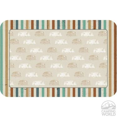 """Reversible Placemat, """"Home is Where I Park My Wheels"""""""