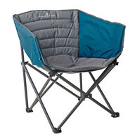 Black Sierra Padded Barrel Quad Chair