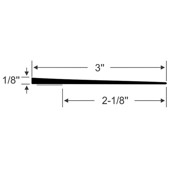 "Steele Rubber Products 3"" Peel-N-Stick Wiper Seal, 15' long"