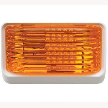Rectangular White with Orange Lens, No Switch
