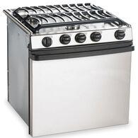 "Dometic Atwood Stainless Steel 3-Burner Ranges, 17"" Range"