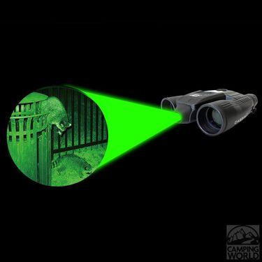 Cassini K-9 Green Laser Day/Night Binoculars, 8x32mm