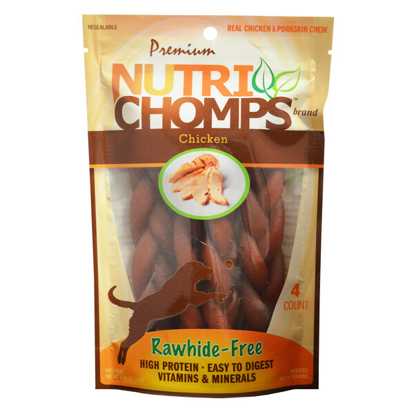 Nutri Chomps Braided Chicken Flavor, 4ct