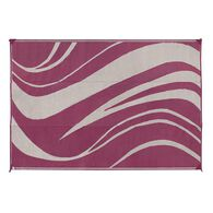 Reversible Wave Design Patio Mat 8' x 16', Beige/Bordeaux