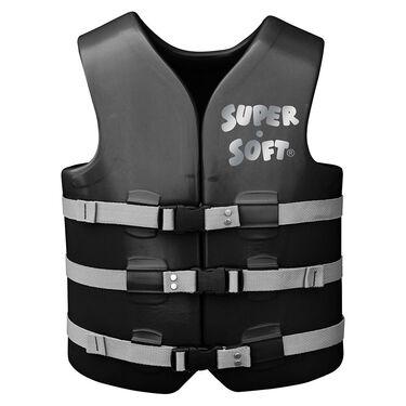 Super Soft Adult Life Vest, X-Large, Black