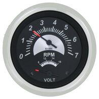 """Sierra Black Sterling 3"""" Tachometer/Voltmeter"""