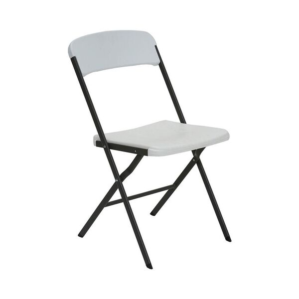 White Granite Contemporary Essential Folding Chair, 6 Pack