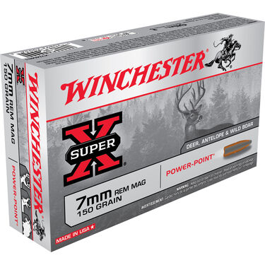 Winchester Super-X Rifle Ammo, 7mm Rem Mag, 150-gr., PP