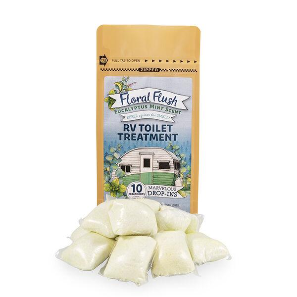 Floral Flush RV Toilet Treatment Drop-Ins, Eucalyptus Mint, 10-Pack