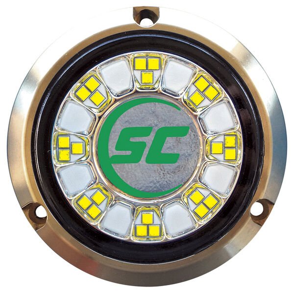 Shadow-Caster Single-Color Bronze Underwater Light – 24 LEDs, Aqua Green