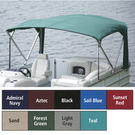 "Buggy Style Pontoon Bimini Top, SurLast Polyester, 1"" Standard Frame, 90""-96""W"