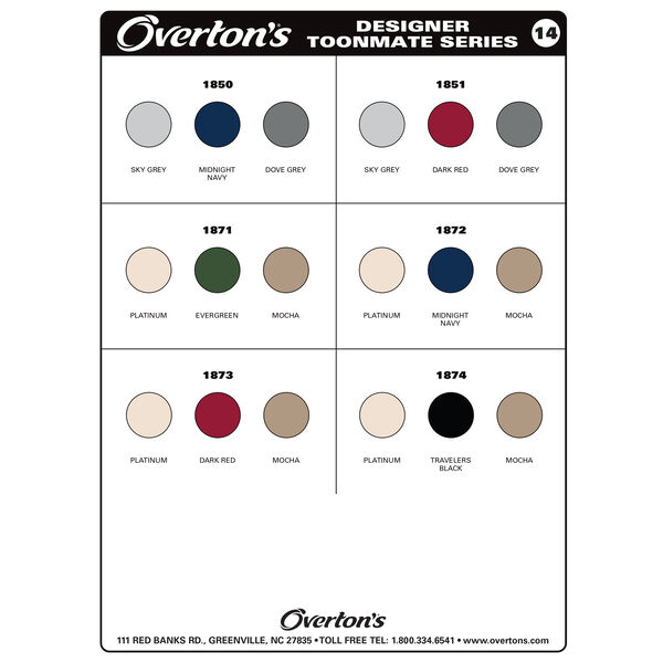 Toonmate Designer Pontoon Seat Vinyl Sample Card
