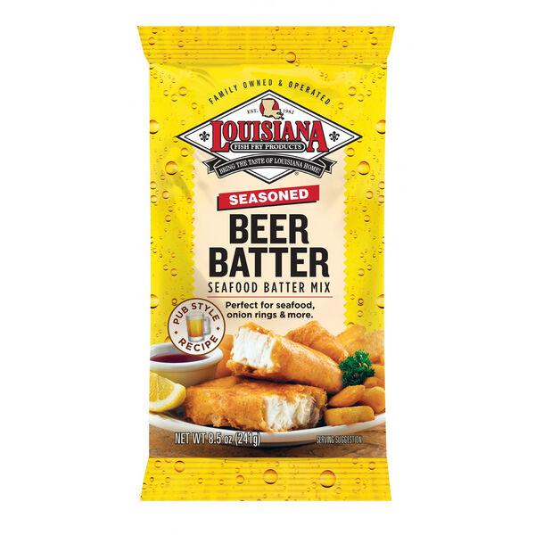 Louisiana Fish Fry Beer Batter Mix Fish Fry Breading, 8.5 oz.