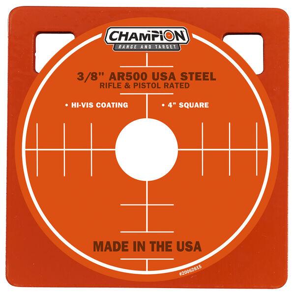 "Champion Targets Center Mass 3/8"" Square 4"" AR500 Steel Target"