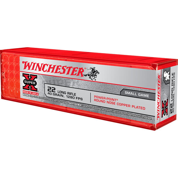 Winchester Super-X Small Game Ammunition, .22 LR, 40-gr., LHP, 100-ct.