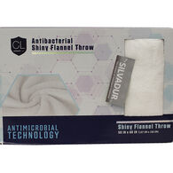"Comfort Lab Antibacterial Shiny Flannel Throw, 50"" x 60"""