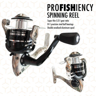 ProFISHiency 6 ft 8 in M Freshwater Spinning Rod and Reel Combo