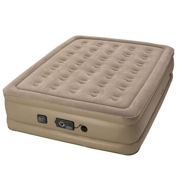 "Insta-Bed Raised 18"" Air Mattress with Never Flat Pump, Queen"