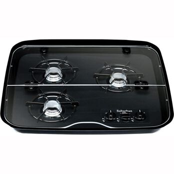 3 Burner Drop-In Flush Mount Glass Cover
