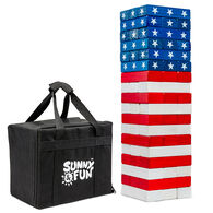 Sunny & Fun American Flag Toppling Tower with Carrying Case