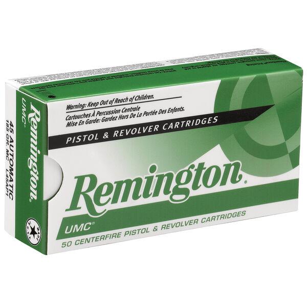 Remington UMC Handgun Ammunition, .45 ACP, 185-gr., FMJ, 50 Rounds
