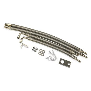 """Dual Tire Inflators - Hub Mount Stainless Steel - 4 hose kit for 22"""" wheels"""