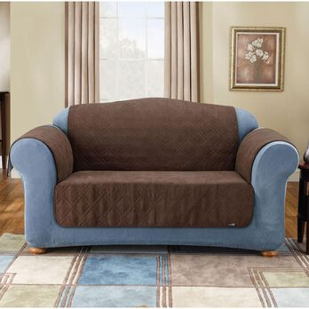 "Soft Suede Pet Loveseat Throw - 48"", Brown"