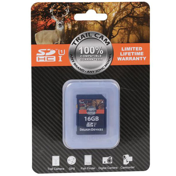 Delkin Devices Trail Cam SD Memory Card, 8GB, 2-Pack
