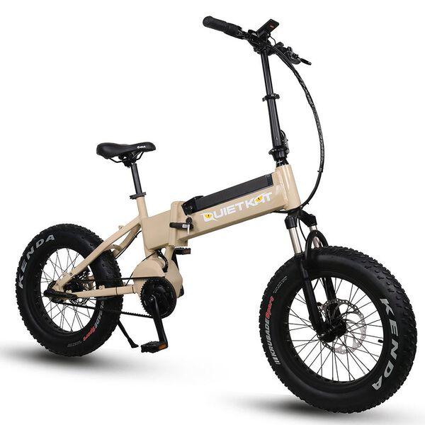 QuietKat F750-IBT Folding Electric Mountain Bike, Tan