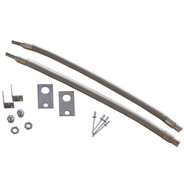 """Dual Tire Inflators - Hub Mount Stainless Steel - 2 Hose Kit for 16""""-19.5"""" Wheels"""