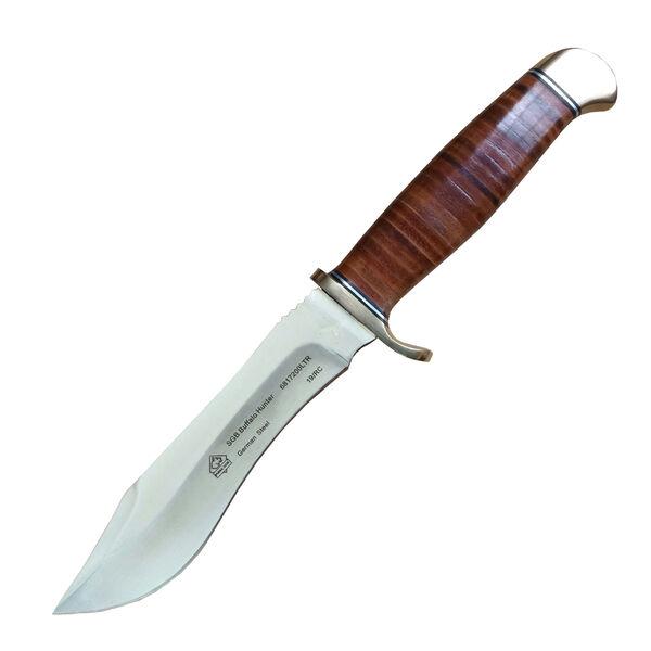 Puma SGB Buffalo Hunter Leather-Wrapped Knife w/Leather Sheath