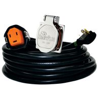 30 Amp 30' Cordset and Stainless Steel Inlet, Black/Stainless Steel